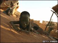 Ni�o refugiado sudan�s