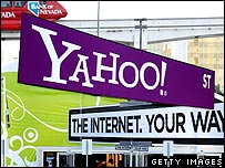 Yahoo signs