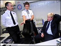 Boris Johnson visits the British Transport Police