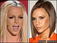 Britney Spears and Victoria Beckham