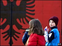 Ethnic Albanians in southern Kosovo