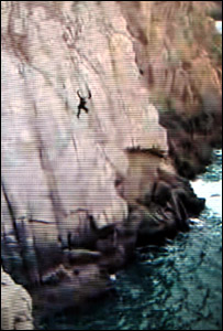 "Aberdeenshire ""tombstoning"" clip from YouTube"