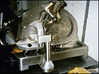 Meat slicer at Tudor & Son