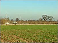 The site proposed for the wind turbines