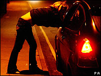 Prostitute talking to a driver 14/12/2006