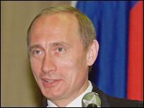 Outgoing President Vladimir Putin