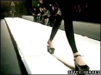 Generic picture of a model walking down the catwalk