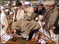 Burial ceremony in Mardan