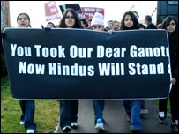 Hindu protesters