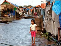 Child in flooded street in Trinidad, Bolivia 13/2/08