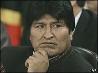 Bolivia's President Evo Morales (File image: January 2008)