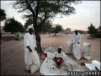 Refugiados de Darfur  Chad en noviembre de 2006