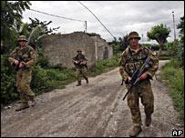Australian troops on patrol in Dili on 12 February 2008