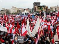 Crowds at Hariri anniversary