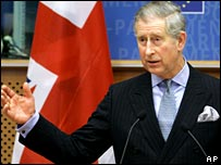 Prince Charles at the European Parliament