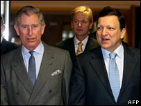 Prince Charles with European Commission President Jose Manuel Barroso