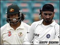 Andrew Symonds and Harbajan Singh