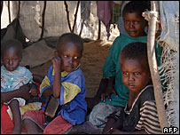 Displaced children in Somalia