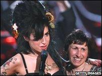 Amy Winehouse celebrates her Grammy success