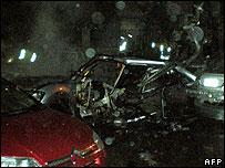 Aftermath of Imad Mughniyeh car bomb