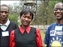 Bathwell Nyengweso (l) and his team