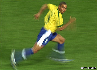 Ronaldo in action at the 1998 World Cup