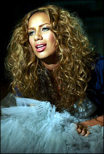 Leona Lewis on the video shoot
