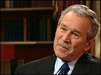 President George W Bush, interviewed by BBC News America, 14/02/08