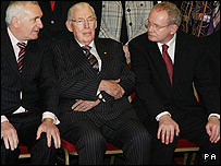 Bertie Ahern, Ian Paisley and Martin McGuinness