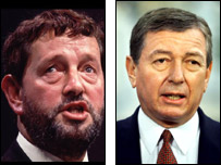 David Blunkett and US Attorney General John Ashcroft