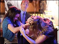 Fight in Eastenders' Queen Vic