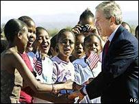 Geroge W. Bush en África