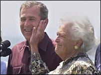 George W Bush with his mother Barbara in 1999