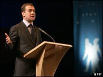 Dmitry Medvedev Krasnoyarsk, Siberia, 14 February 2008