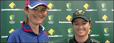 Rival captains Charlotte Edwards and Karen Rolton