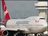 A Virgin Atlantic plane