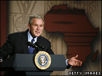 George Bush at the Smithsonian National Museum of African Art, 14 February, 2008