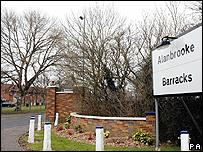 Entrance to Alanbrooke Barracks