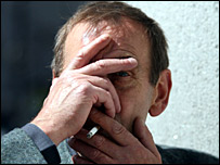 John Wraith smoking [Pic: Newsline]