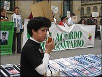 Marleny Orjuela, presidenta de Asociación de Familiares de Policías y Militares (Asfamipaz)