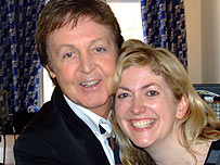 Paul McCartney and Natalie Jamieson