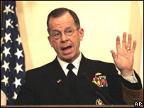 Admiral Mike Mullen pictured last week