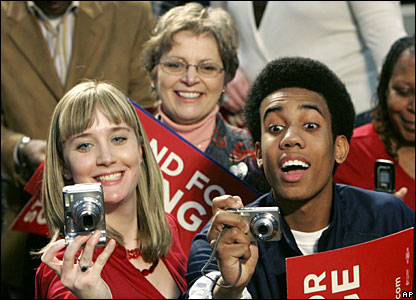 Barack Obama supporters in Wisconsin
