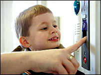 Child and fingerprint reader