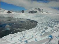 Glacier edge (BBC)