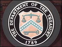 US treasury department emblem