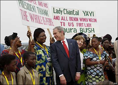 President Bush at Cadjehoun International Airport