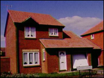 Modern property on estate