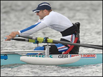 Paralympic rowing hopeful Tom Aggar. Pic: Peter Spurrier/GB Rowing