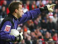Barnsley goalkeeper Luke Steele was making his Tykes debut